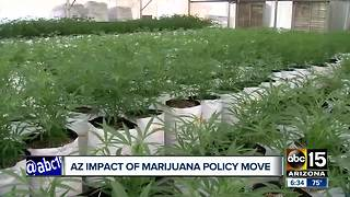 Most recent national government decision on marijuana is creating confusion in Arizona for dispensaries - Video