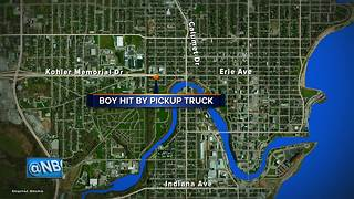 9-year-old boy hit and injured by pickup truck - Video