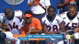 Feedback Friday: NFL tackles kneeling protests - Video