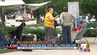 Homeless move encampment to near casino, but say they won't disappear - Video