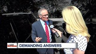 Demanding answers from lawyer as part of 7 Action News reports on probate problems - Video
