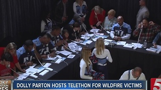 Dolly Parton Hosts Telethon For The Smokies - Video