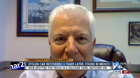 Stolen car surfaces in Mexico three years later