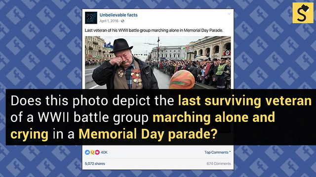 FACT CHECK: Last Surviving WWII Veteran Marches Alone in