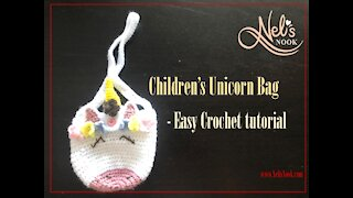 Children's Unicorn Purse - A Crochet Tutorial