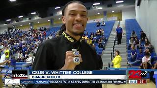 CSUB men's basketball opens 2017-18 season with 88-66 win over Whittier - Video