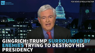 Gingrich: Trump Surrounded By Enemies Trying To Destroy His Presidency
