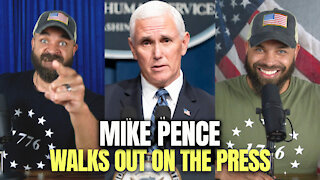 Mike Pence Walks Out On Press