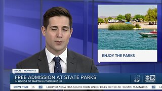 Free admission to state parks on Monday