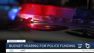 Budget hearing for San Diego Police funding