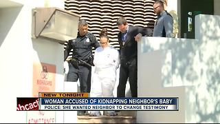Police: woman steals baby to force neighbor to change her testimony