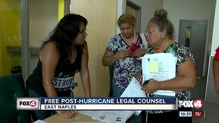 Free post-hurricane legal counsel - Video
