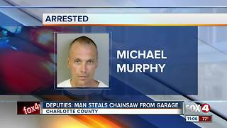 Chainsaw stolen from the home in Charlotte County - Video