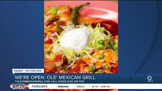 Ole Mexican Grill selling takeout meals