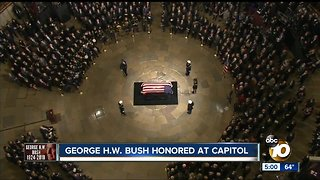 George H.W. Bush honored at Capitol - Video