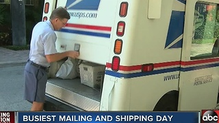 Busiest shipping day in the U.S. - Video