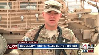 Community honors fallen Clinton officer - Video