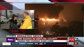 BREAKING: Live in Ventura County at the Thomas Fire - Video