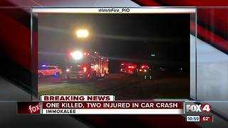 One Killed, two injured in car crash - Video