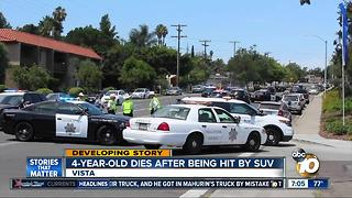 4-year-old boy dies after being hit by SUV in Vista - Video