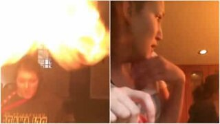 Girl almost burns down kitchen after failed attempt at cooking