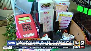 2 - Powerball climbs to $435 million