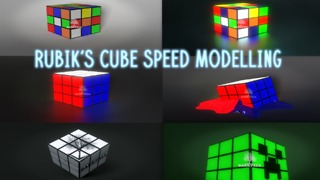 Rubik's Cube Speed Modelling in Blender - Video