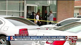 Police relese images of suspected bank robber - Video