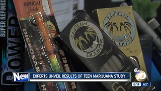 Experts unveil results of teen marijuana study