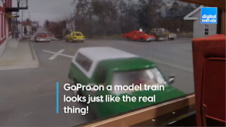 GoPro on a model train looks just like the real thing