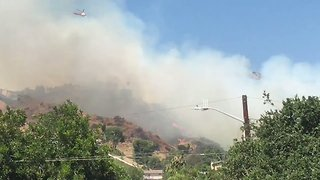 Brush Fire in Burbank Hills Triggers Evacuations - Video