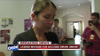 Kuntz's license suspended following DWI charge