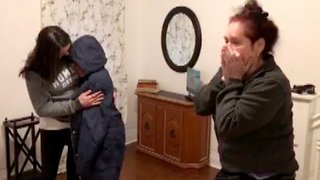 Mother and daughter's dreams come true with new house after seven months in homeless shelter