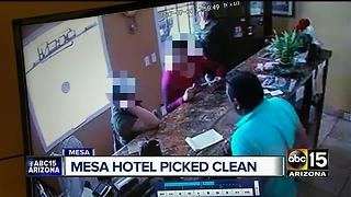 Mesa hotel owner says thousands in cash and jewelry was stolen Sunday - Video