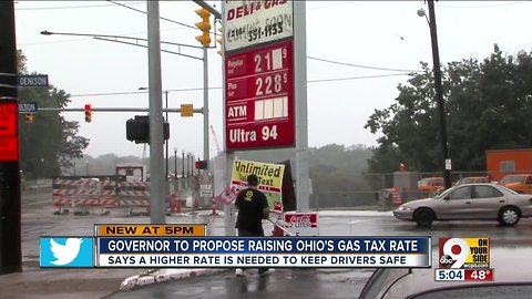 Governor to propose raising Ohio gas tax