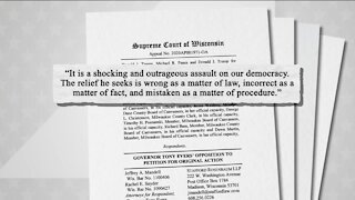 Evers responds to Trump lawsuit
