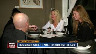 Businesses work to make customers feel safe - Video
