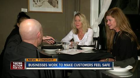 Businesses work to make customers feel safe