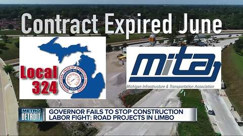 Michigan Governor Rick Snyder says no solution reached in road construction dispute