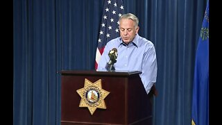 Sheriff Lombardo offers update after officer shot during 5th night of protests in Las Vegas