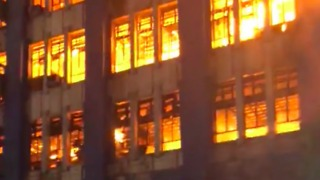 Fire Burns Land Management Bureau, National Archives Office in Manila - Video