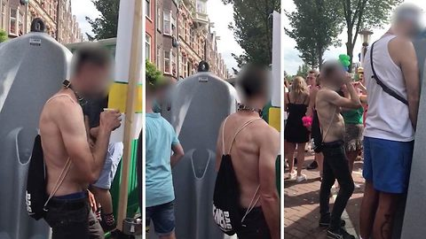 Free refills: Man 'steals' strangers' urine from outdoor toilets before downing it like a pint of beer