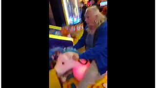 Elderly woman proves you're never too old to have fun