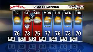 13 First Alert Weather for November 9 2017 - Video