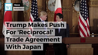 Trump Makes Push For 'Reciprocal' Trade Agreement With Japan - Video