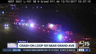 Serious crash on Loop 101 overnight - Video