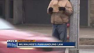Is Milwaukee's aggressive panhandling ordinance being enforced?