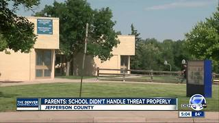 JeffCo couple wants school principal removed after alleged school shooting threat - Video