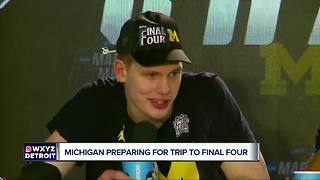 Michigan back to work after clinching Final Four berth