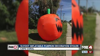 Halloween decorations stolen - Video